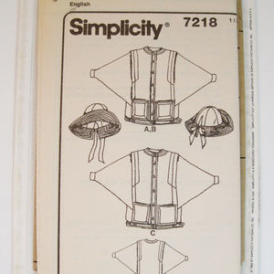 Simplicity 7218 Misses/' Jacket and Hat   Sewing Pattern